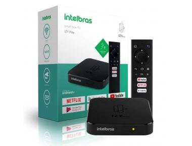 Smart Box Android TV Intelbras IZY Play /Android TV 9.0/DRAM: DDR3 1GB/Wi-fi 2.4GHz/Android TV 9.0